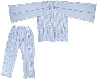 IPOTCH Erwachsene Abnehmbar Pflegekleidung Pflegehemd Krankenhemd Patientenhemd für Frakturen und Akupunktur Patienten - XXL