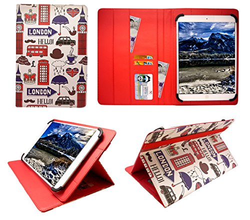 Sweet Tech Fonxa 10.1 inch Quad Core Tablet London Attractions Universale Rotazione PU Pelle Custodia Case Cover (10-11 Pollici
