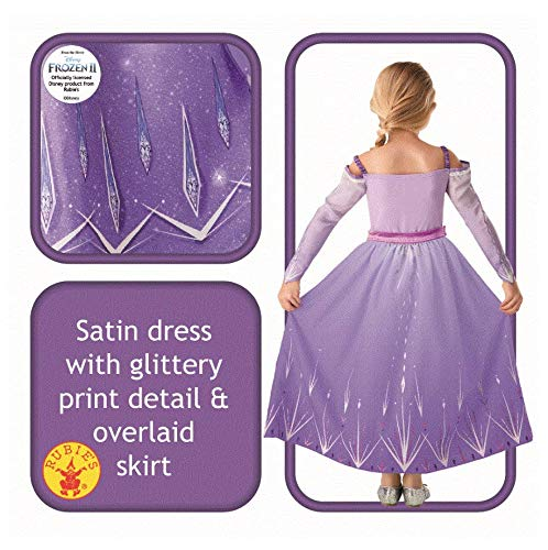 RUC7O #Rubie's Elsa Prologue Frozen2 Classic Costume, Bambina, Lilla, S