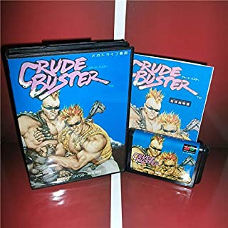 Value-Smart-Toys - Crude Buster Japan Cover with box and manual for Sega MegaDrive Genesis Video Game Console 16 bit MD card