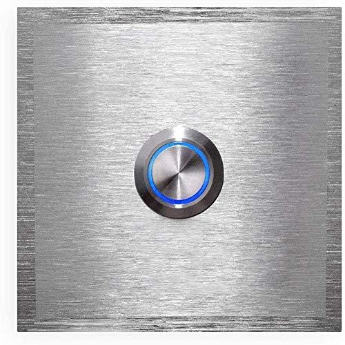 Metzler Edelstahl Türklingel - LED-beleuchtet - aus Edelstahl V2A - Klingel-Platte - Größe: 60 x 60 mm