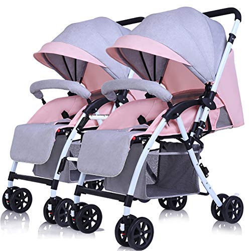 Buy Bargain PeaceipUS Twin Baby Stroller Detachable Can Sit and Lie Down Lightweight Foldable Double...