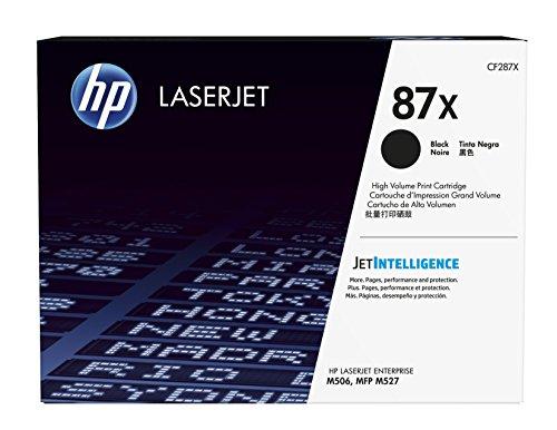 HP 87X | CF287X | Toner Cartridge | Black | Works with HP LaserJet Enterprise M527, M506, M501 | High Yield