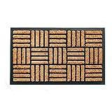 Coco&Coir Heavy Duty | Thick Coir | Natural | Non-Slip Backing Tuffscrape Outdoor Door Mat 45 x 75 cm (Short Bread)