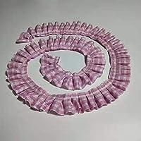 Kalmar 多くの色の格子プリーツレースリボンDIY服スカートホームテキスタイル高速縫製トリム玩具人形ペット服創造デコレーション (色 : 7)