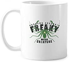 Green Spider Star Pattern Illustration Classic Mug White Pottery Ceramic Cup With Handle 350ml Gift