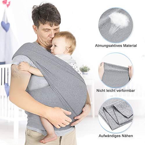 Lictin Babytragetuch Kindertragetuch Babybauchtrage Sling Tragetuch für Baby Neugeborene Innerhalb 16 KG - 7