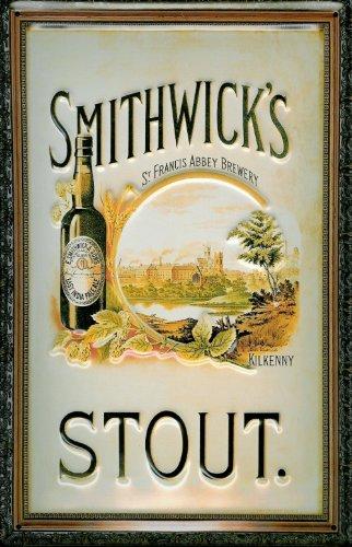 Blechschild Nostalgieschild Smithwicks Beer Stout Bier Kilkenny Schild Bierwerbung