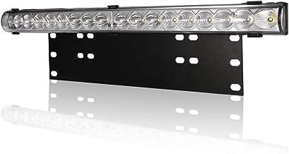 20'' 54W Combo LED Light Bar+License Plate Light Bracket for Truck Car ATV SUV 4X4 Jeep Truck, Universal Front Bull Bar Bumper, 2 Fuctions(Mount Lincense Plate, Led Lights)