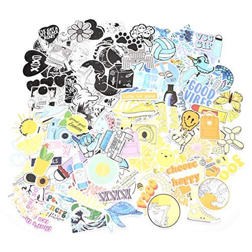 Liwein 200 Pezzi Graffiti Adesivi Impermeabili,Autoadesivi Paraurti Adesivi Vinile per Laptop Bambini Auto Moto Biciclette Skateboard Bagagli