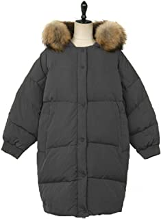 Howely Womens Puffer Coat Mid-Lon Hooded Winter Coat Parka Quilted Jacket