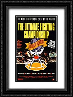 UFC Ultimate Fighting Championship 20x24 Double Matted Black Ornate Framed Fight Poster Art Print