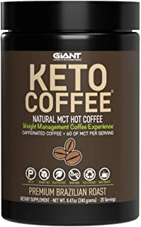 Keto Coffee – Instant Fat Drink for Ketogenic Diet - 8g of MCTs per Serving to Boost Ketone Production, Energy & Metabolis...