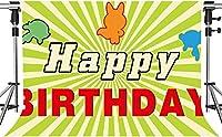 誕生日パーティーの写真撮影のためのHD誕生日のテーマの背景シンプルなライトグリーンお誕生日おめでとう背景7x5ftZYMT0745