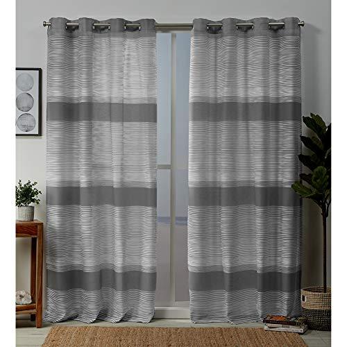 Exclusive Home Curtains Kadomo Panel Pair, 54x84, Cloud Grey