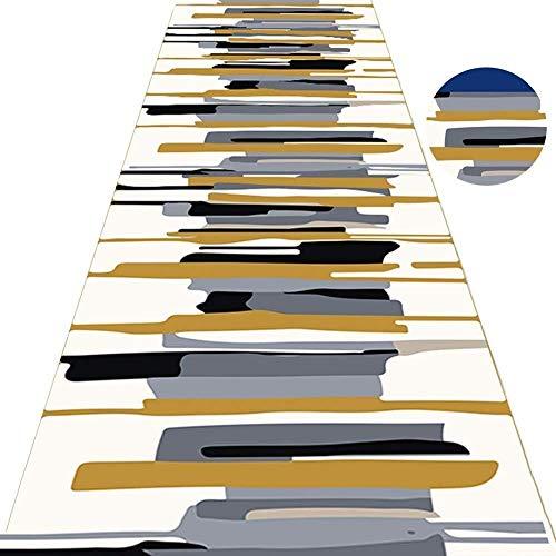 Im modernen Stil Küche Teppiche und Läufer den Hausgebrauch Flur Wohnzimmer Balkone Weiche Nicht Beleg Teppich Skulptur Anpassbare Größe: 0.6x1.2m Hall Rugs (Color : A, Size : 0.6x1.2m)