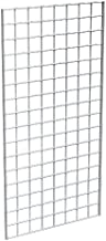 Grid Panel for Retail Display – Perfect Metal Grid for Any Retail Display, 2' Width x 4' Height, 3 Grids Per Carton (Chrome)