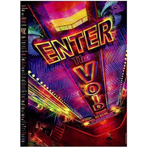 Qqwer Enter The Void Movie 2009 Gaspar Noe Pop Art Poster Lienzo Pintura Carteles E Impresiones Decoración Del Hogar -50X70Cmx1Pcs -Sin Marco