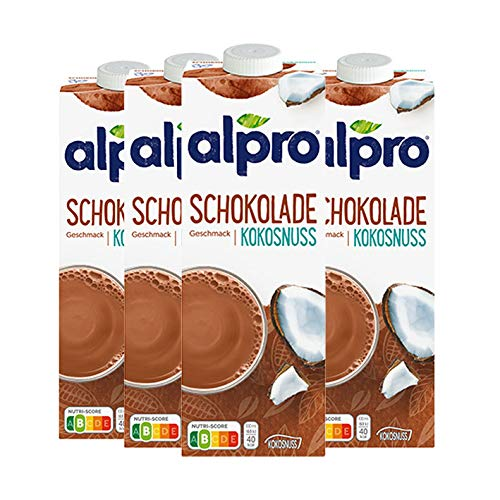 Alpro Soja-Kokosnuss-Drink Choco, 1 l, 4er Pack