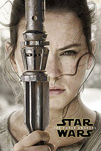 Artland Film-Poster + ein Ü-Poster Filmposter Star Wars Episode 7 (Rey) Film & TV Film Digitale Kunst Blau 91,5 x 61 x 0,1 cm B9PN