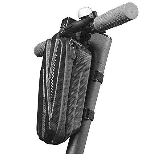 WYJRF Bolsa de Bicicleta práctica Bolsa de Almacenamiento de Manillar Resistente al Desgaste de pequeña Capacidad Bolsa de Bicicleta Impermeable de EVA Hard Shell (Color: Negro, Tamaño: