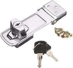 75mm (2.95in) /105mm(4.13in) Roestvrij Stalen Plaat Zelfremmendheid Safety Spoeltje Staples, 2 Key Sloten, Shed Kabinet Ha...