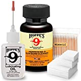RGNINE Hoppes 9 Elite Gun Cleaning Kit Gun Bore Cleaner, Precision Oil, Cotton Patches for 9mm.357.38.40.45 Caliber Cotton Swabs