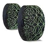 Alien Pros Nastro Manubrio Bici Carbonio (Set di 2, Cubo) - Migliora la Presa della Tua Bici con Questi Nastri Manubrio per Bicicletta - Avvolgi la Tua Bici per Una Fantastica e Confortevole Corsa