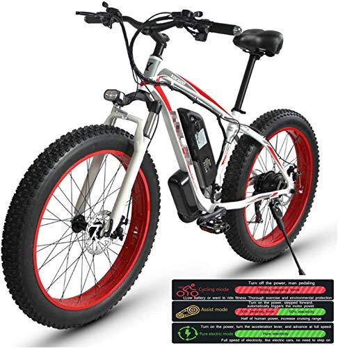 RDJM Bici electrica Bicicleta eléctrica de montaña for Adultos, Tres Modos de...