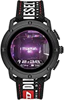 Diesel On Men's Axial Stainless Steel Touchscreen Smartwatch with Speaker, Heart Rate, GPS, NFC, and Smartphone...