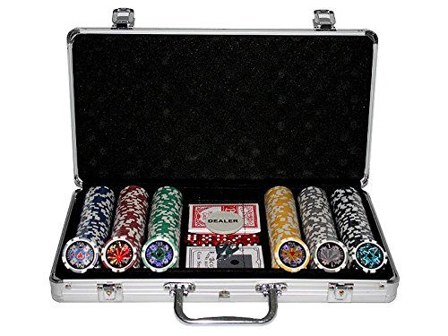 300 Poker Chips with Aluminiumcase (11.5 Gramm. Chips Laser)