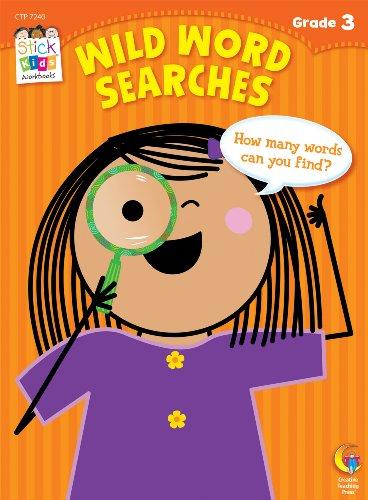 Wild Word Searches Stick Kids Workbooks Grade 3