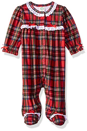Little Me Baby Girl's Christmas Plaid Pajamas Sleepwear, Christmas Plaid, 9 Months