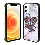 KANGHAR iPhone 12 Case Elephant Pattern Cover for Girls Women,Shockproof Slim Fit Protective Cute Phone Case for iPhone 12/12 Pro 6.1 inch 2020