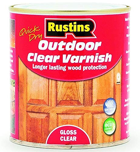 Rustins EAVG250 250ml Outdoor Varnish Gloss - Clear