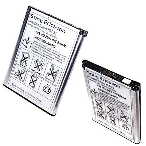 ORIGINAL Akku accu Batterie battery für Sony-Ericsson W580im, W595, W595s, W610, W660i, W705, W705u, W715, W830i, W850i, W880i, W890i, W900i, W950i - 950mAh - Li-Ionen - (BST-33)