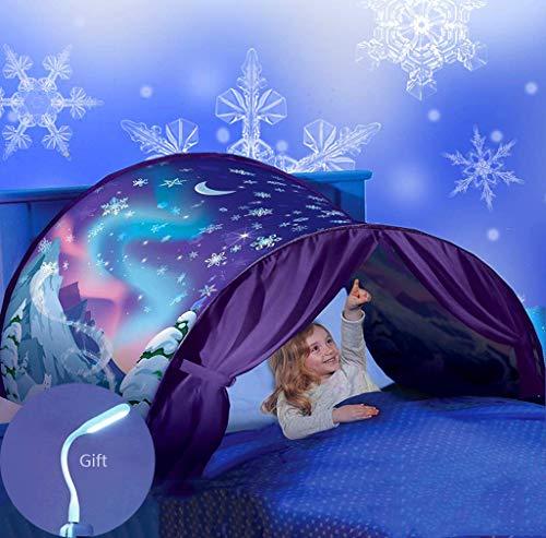 Nifogo Traumzelt Bettzelt - Spielzelte Bettzelt, Geeignet für den Einsatz im Raum den Stil den Kinder Mögen (Schneeflocke)