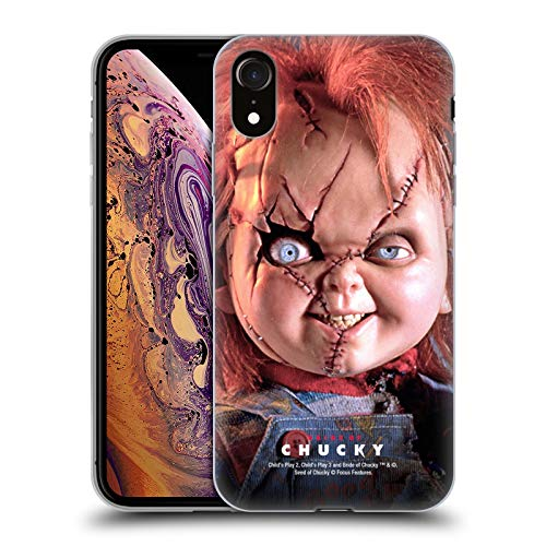 Head Case Designs Officially Licensed by Bride of Chucky Doll Key Art Soft Gel Case Compatible with Apple iPhone XR