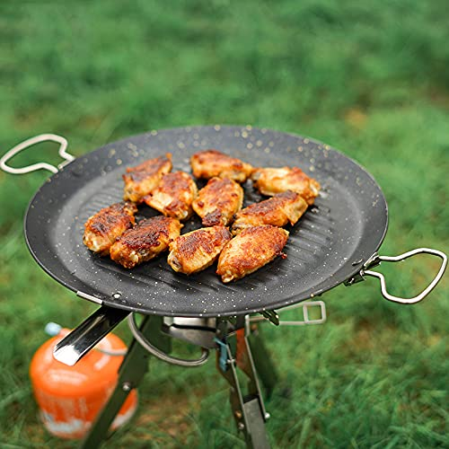 Cocina Al Aire Libre, Juego de Sartenes Sartenes Naturalmente Antiadherentes   Horno Estufa Inducción BBQ Seguro Cocina Interior Al Aire Libre Ideal para Asar a La Parrilla Freír Hornear