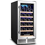 BODEGA 15 Inch Wine Cooler, Upgrade Wine Refrigerator 31 Bottle with Quiet Compressor Cooling, Constant Temperature System,Front Vent,Built-in or Freestanding Wine Fridge For Red, White or Champagne