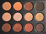 Koko Eyeshadow Pro Makeup Palette - 12 Highly Pigmented Matte and Shimmer Colors - Nudes Warm Natural Bronze Neutral Smoky Eye Professional Cosmetic Eyeshadow