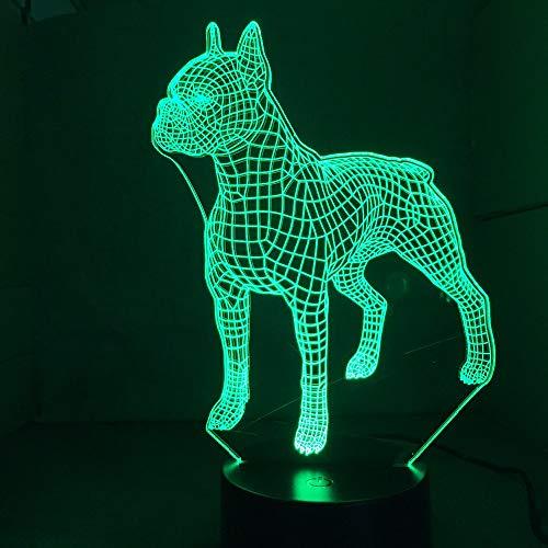 Britsh Bulldog Cute Animal s Party 3D LED Nachtlicht Tischlampe Nachttisch Dekoration Kinder Geschenk