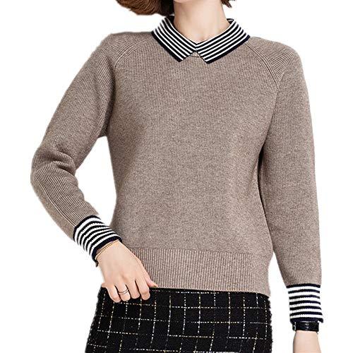 N\P Baby Kragen Rot Pullover Damen Herbst und Winter Revers Bottom Shirt mit Oberteil...