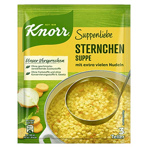 Knorr Suppenliebe Sternchen Suppe 3 Teller