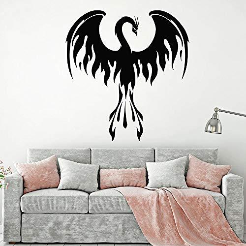 Tianpengyuanshuai Phoenix muursticker fantasie vogel vork vlam vinyl sticker slaapkamer woonkamer huisdecoratie muurschildering