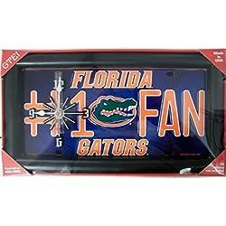 Florida Gators #1 Fan License Plate Clock