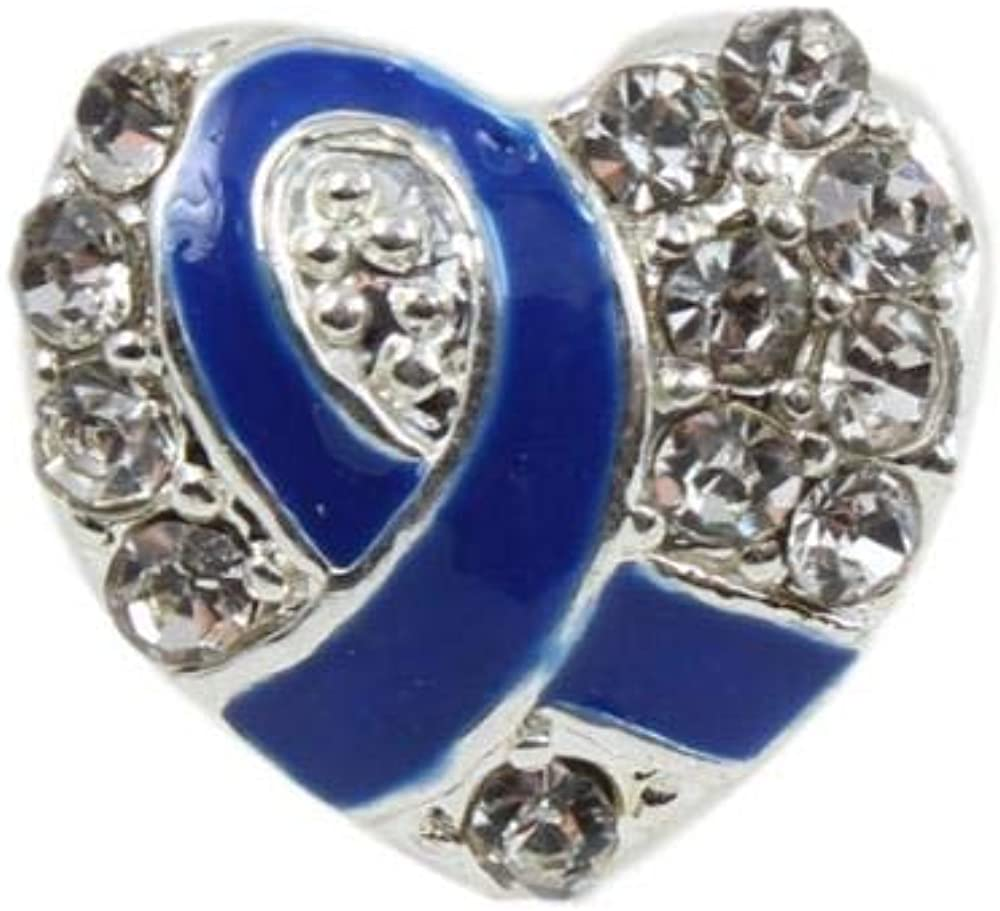 Limited price Awareness Products shop Warehouse Blue Ribbon Shaped Charm Heart with