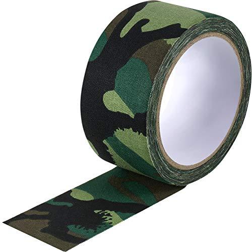 Cinta de Tela Verde Camuflaje 5 cm x 10 m, Cinta Adhesiva de Sellado de Costuras para Reparación de Correas