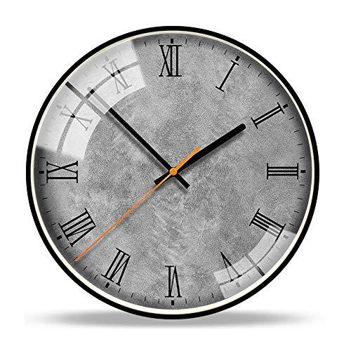 L.J.JZDY wandklok Romeinse cijfers 14 inch geometrische figuur modieuze wandklok Noord-Europa gecontracteerd Horologische moderne zitkamer kantoor siert klokken