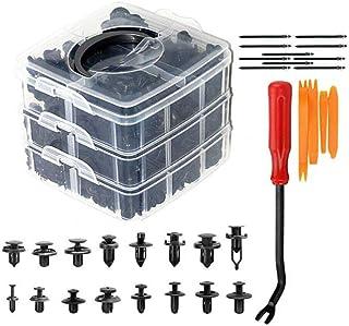 Wakauto 635 peças clipes de automóvel retentor de corpo de carro, clipes sortidos de empurrar rebites para porta traseira,...